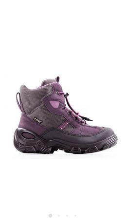 Ботинки, сапоги зимние, детские для девочки, фирмы Ecco, 27 размер