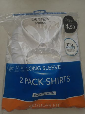 Школьные рубашки от George School на мальчика 8-9 лет