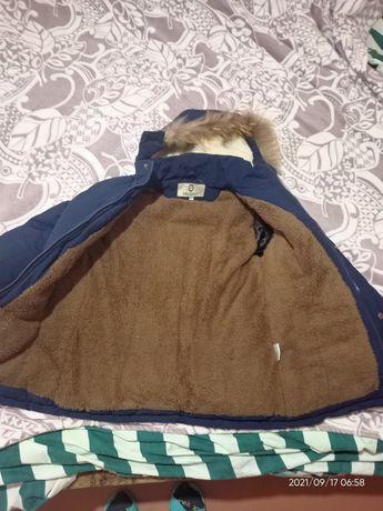 Куртка на мальчика зимняя, р.134-140