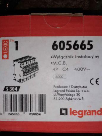 Legrand S304- C4 wyłącznik nadprądowy 4P C4A