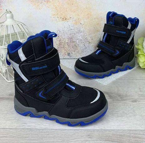 Распродажа зимние термоботинки b&g мальчика сапоги зимові черевики 35р