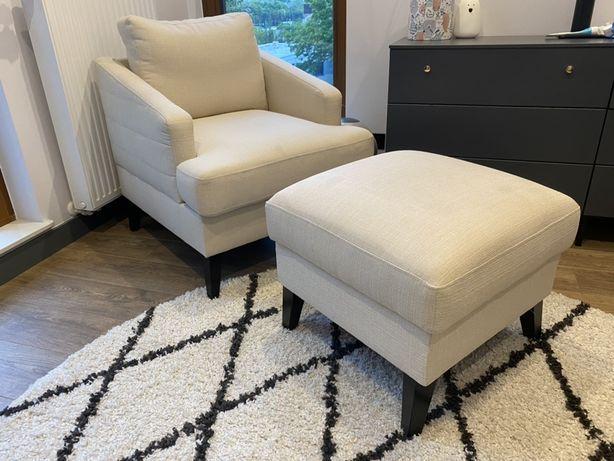 Fotel+ podnóżek