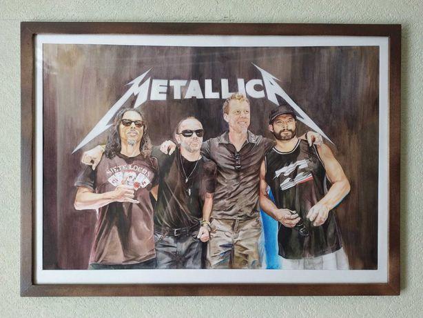 Картина акварелью Metallica