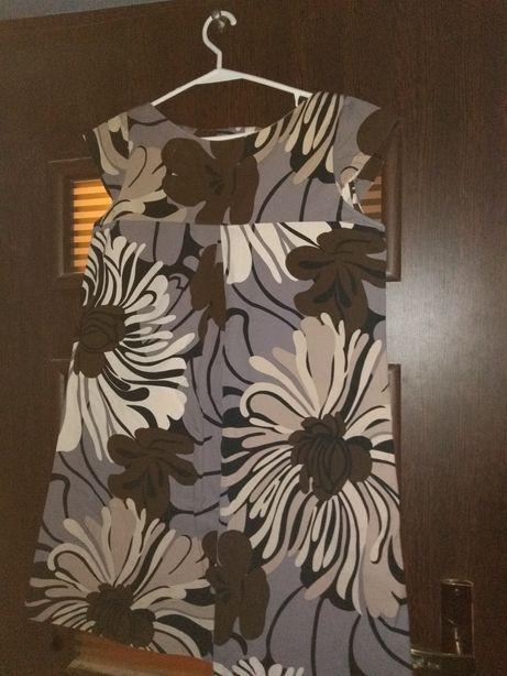 Sukienka tunika ciążowa ZARA S kwiaty