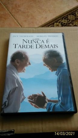 DVD Nunca é Tarde Demais Filme Jack Nicholson Morgan Freeman Bucket Li