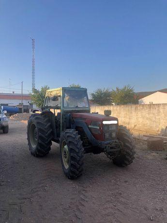 Trator agrícola - SAME EXPLORER - equipado com vibrador azeitona