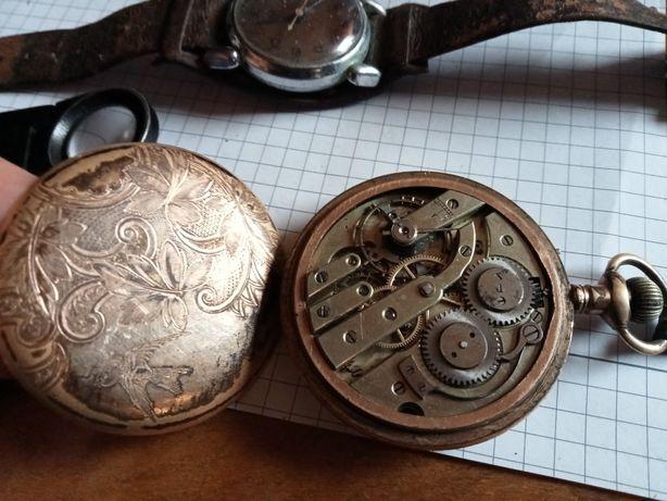 Zegarek męski stary kieszonkowy i naręczny. Antyk