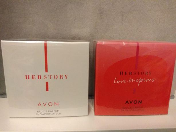 Zestaw 2 wód perfumowanych Avon: Herstory i Herstory Love Inspires