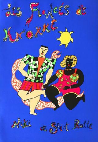 """Serigrafia de Niki de Saint Phalle - """"Les fiancés de Knokke"""""""