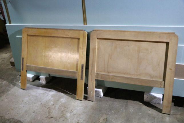 Stare łóżko drewniane PRL starocie
