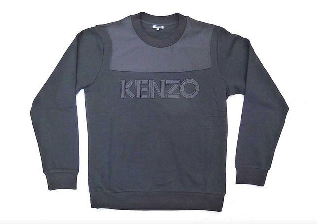 100% Original KENZO PARIS Dual Fabric Black Sweatshirt. PVP €250 S-XL