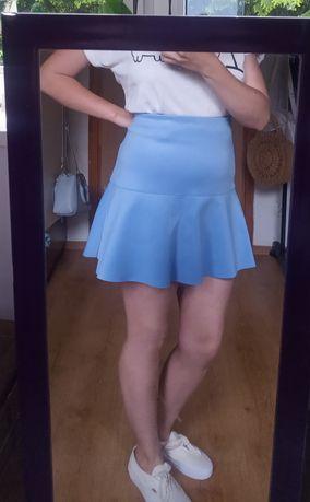 Niebieska spódnica mini