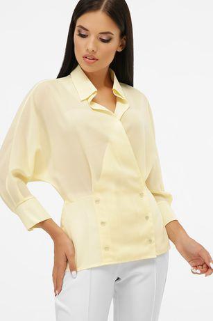 Красива блузка ванільного кольору опт ціна