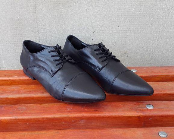 Кожаные туфли ботинки лоферы Shoe Box 39 р.