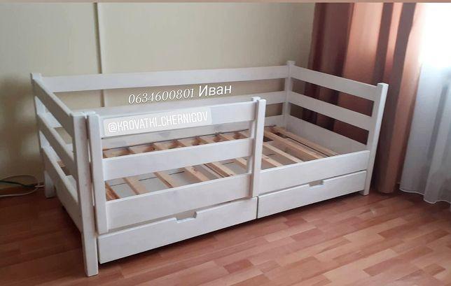 Кровать кроватка детская взрослая из натурального дерева
