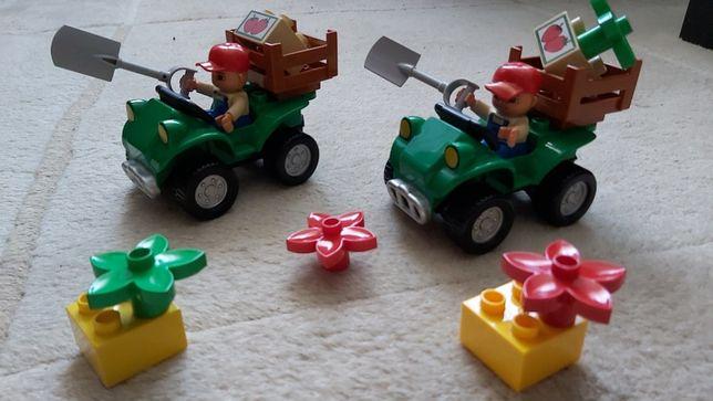 2x Lego DUPLO 5645 Farm Bike, Quad farmera, samochód