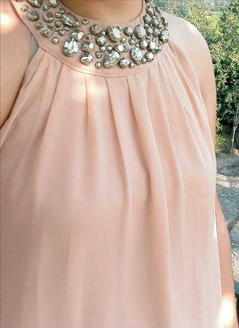 Vestido rosa curto H&M