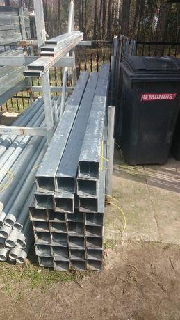 100x100x2mm Nowy Profil słupek ogrodzeniowy brama ocynk L=230cm