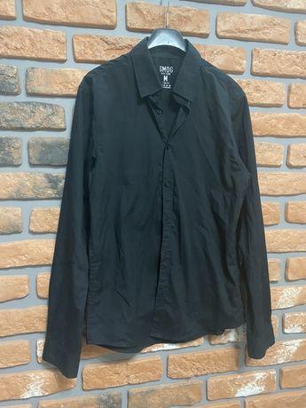 Smog czarna koszula męska M 38 elegancka Slim Fit
