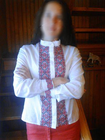 Эксклюзивная рубашка вышиванка ручной работы