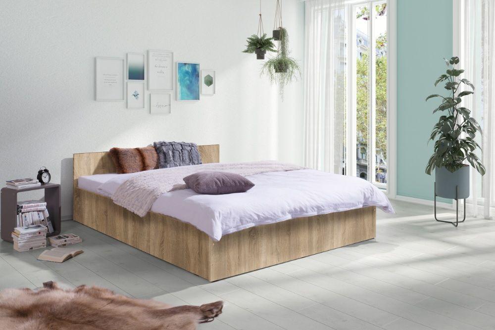 Nowe Łóżko Sypialniane z Materacem 160x200 Modne 4 kolory Producent