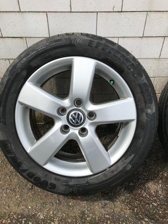Conjunto de pneus e jantes 16 VW