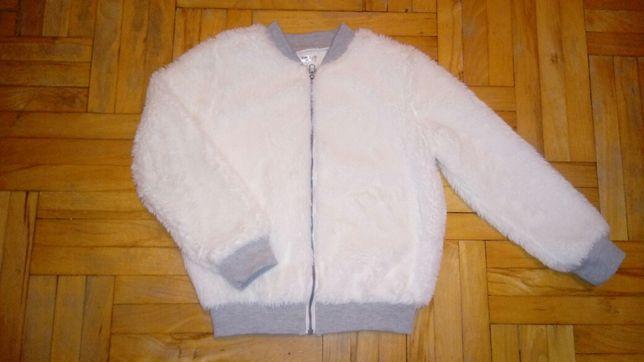 Bluza futerko  białe rozm 128