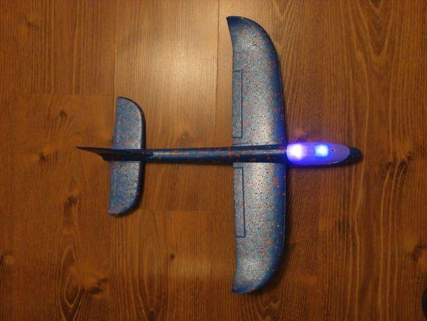 Детский Самолёт , метательный планер , СО СВЕТОМ 2 Led 43см
