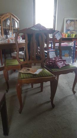 Dąb 4 krzesła dębowe ludwik