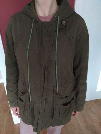 Wysyłka 1zł kurtka jesień wiosna ciążowa płaszcz z podpinką zielony