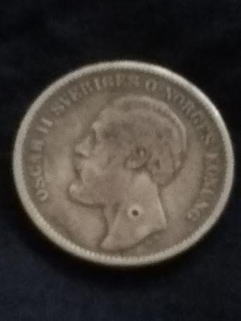 2 korony 1876 srebro
