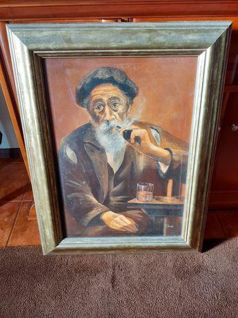 Quadro antigo pintado a óleo