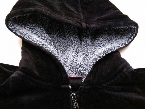 Bluza z czarnego weluru M