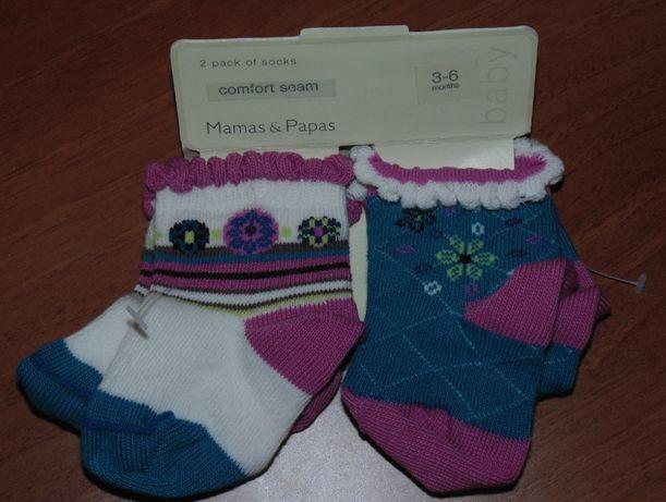 Продам набор (2шт) носочков на ребенка 3-6 месяцев НОВЫЕ