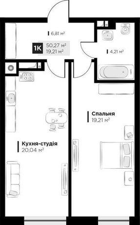 Продаж 1 кім. квартири ARTHOUSE park, вул Малоголосківська 50 кв.м