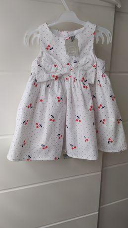 CoolClub nowa sukienka dziewczęca rozmiar 74