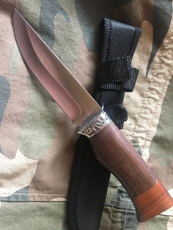 Nóż wędkarski trustyczny finka drewno pochwa