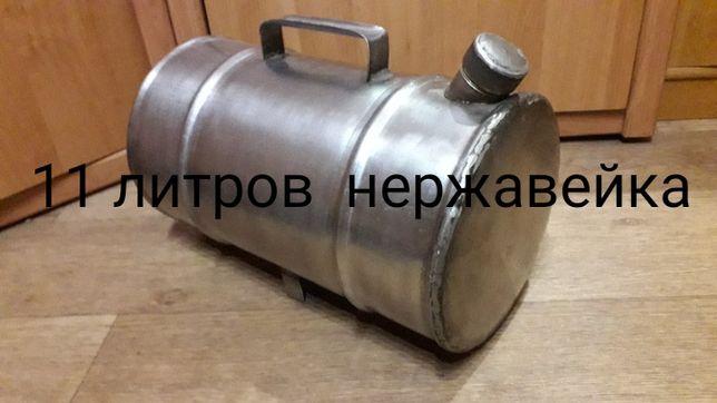 Канистра нержавейка для воды или вина  на даче  11 литров