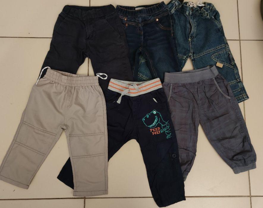 Spodnie, jeansy next, materiałowe topomini, cubus, 86 cm, 6 par Świercze - image 1