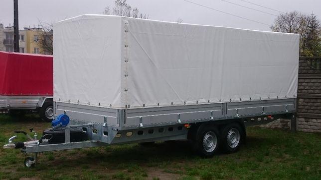 Przyczepka Samochodowa 500x200 2-oś hamowana najazdy MALIKÓW Kielce