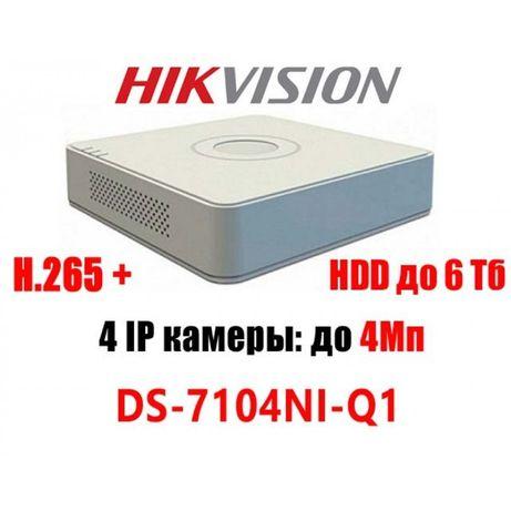 Hikvision DS-7104NI-Q1 регістратор відео нагляд спостереження камера