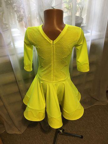 Платье рейтинговое бейсик лимон неон