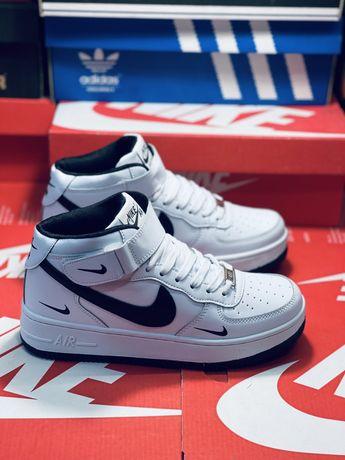 Кожаные зимние кросовки Nike Air Force Af   красовки Найк Форс Новинка