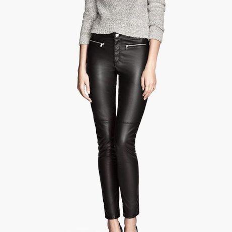 Spodnie Skórzane Skórka H&M