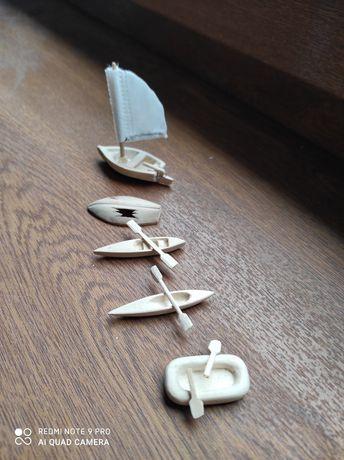 Kajaki, łódki,ponton żaglówka h0 1:87