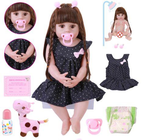 Реалистичная полностью силиконовая кукла реборн 56см (детская игрушка)