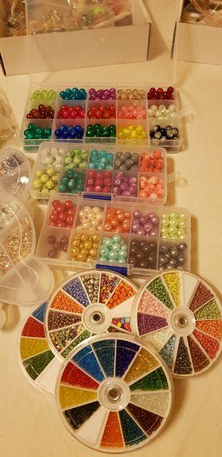 Mega zestaw do robienia biżuterii, haftu i sutaszu PROMOCJA!
