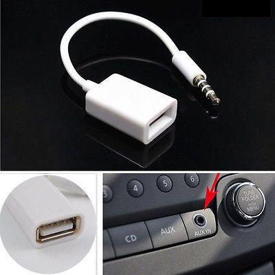 AUX Кабель-Адаптер USB Мама-3.5 Аукс для Флешок з Музикою MP3 Перехілн