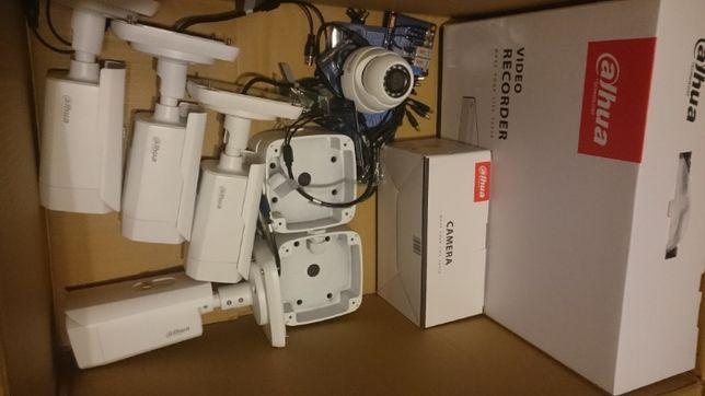 Kamera Kamery Rejestrator Monitoring 5mpx Pełny zestaw z montażem 2400
