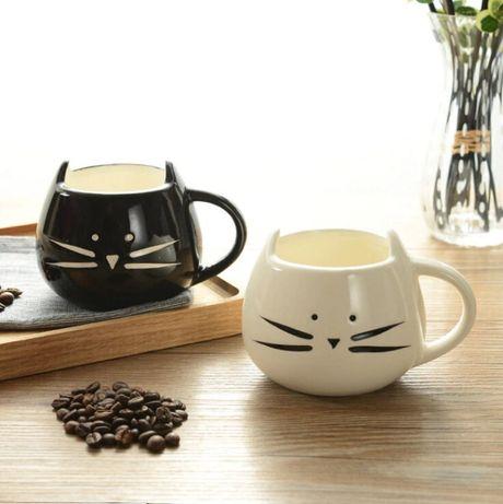 Ceramiczny kubek z kotem kot z uszami 400ml